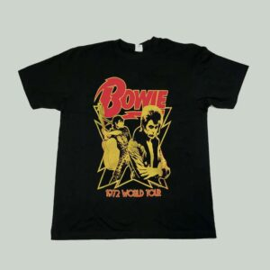 David Bowie Singer 1972 World Tour Unisex T Shirt