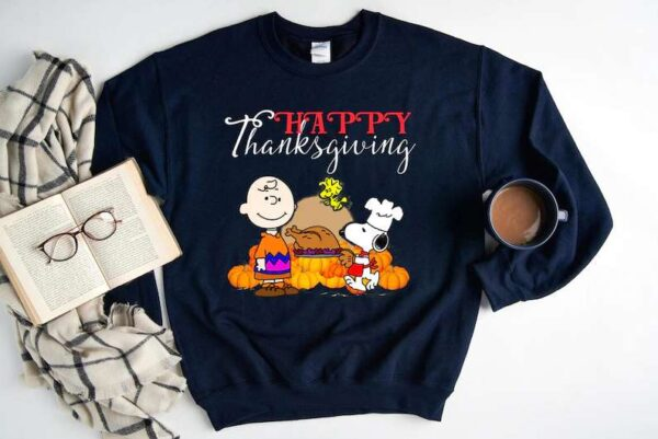 Happy Thanksgiving Halloween Snoopy Charlie Sweatshirt Unisex T Shirt