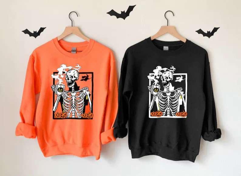 Hot Coffee Skeleton Sweatshirt Unisex T Shirt