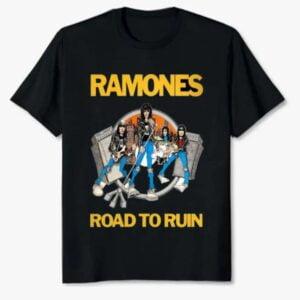 Ramones Band Road To Ruin Album Unisex T Shirt