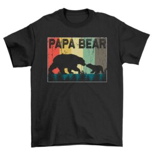 Sunset Papa Bear Unisex T Shirt
