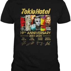 Tokio Hotel 19th Anniversary 2001 2020 Thank You for The Memories Unisex T Shirt