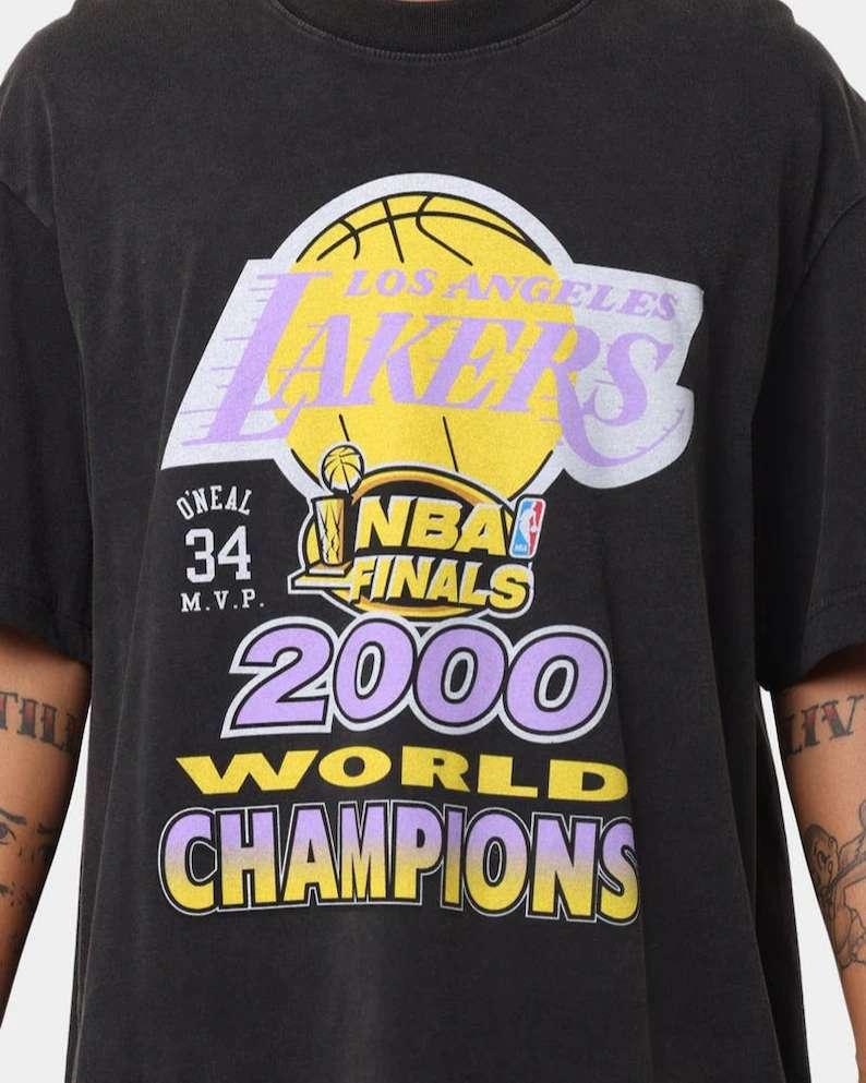 Vintage Los Angeles Lakers 2000 World Champs Unisex T Shirt