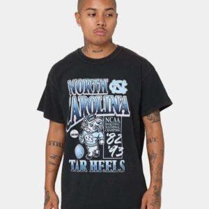 Vintage NCAA UNC Tar Heels Wordman Fade Unisex T Shirt