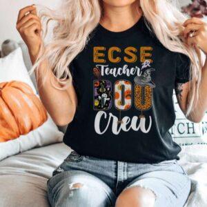 Early Childhood Special Education Teacher Boo Crew Shirt Halloween Teacher