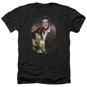 Elvis Presley T Shirt Red Scarf and Guitar