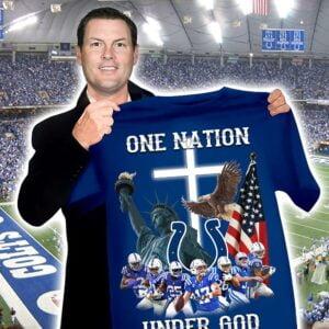 Indianapolis Colts Nfl Shirt One Nation Under God