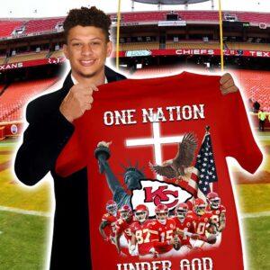 Kansas City Chiefs Shirt One Nation Under God