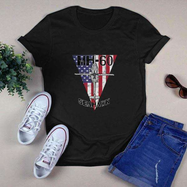 MH 60 Seahawk Military Helicopter Patriotic Shirt
