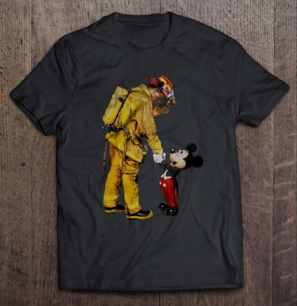 Mickey Mouse And Firefighter T Shirt
