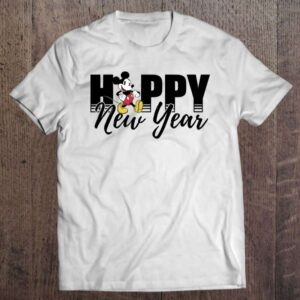 New Years Mickey Mouse Happy New Year Unisex T Shirt