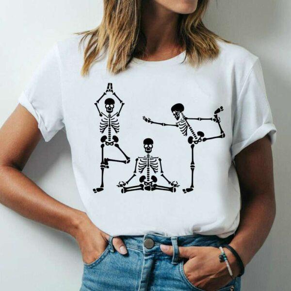 Skeletons Yoga Unisex T Shirt