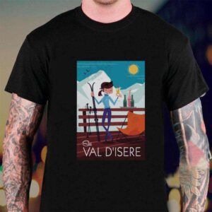 Ski Val DIsere T Shirt For Men And Women