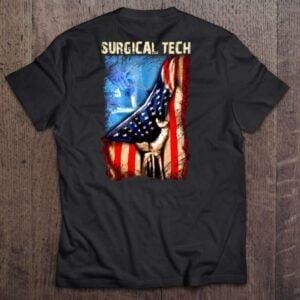 Surgical Tech T Shirt American Flag