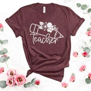 Teacher T Shirt Back School