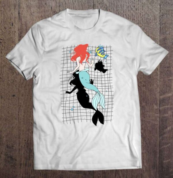 The Little Mermaid Ariel And Flounder Aerial View Unisex T Shirt