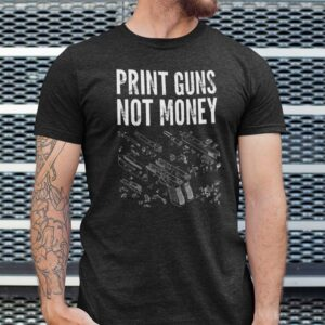 Trending Print Guns Not Money Unisex T Shirt