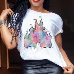 Watercolor Magic Castle Unisex T Shirt