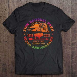 Zion National Park Utah Usa Centennial 102 Years Souvenir Unisex T Shirt